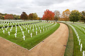 Cambridge American Cemetery and Memorial — 图库照片