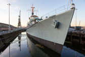 HMS Cavalier at Chatham Historic Dockyard. — Stock Photo