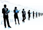 Business community — Stock Vector