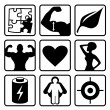 Постер, плакат: Sport nutrition icon set