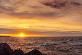 Ocean coast at sunrise — Stock Photo