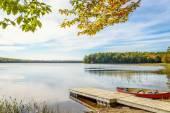 Kejimkujik lake in fall from Jeremy Bay Campground — Stock Photo
