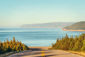 Cabot Trail Highway  in fall — Stock Photo