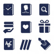 Постер, плакат: Icons for actions with books