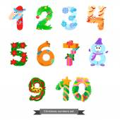Numbers like symbols of the Christmas — Stock Vector
