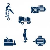 Different types of lifting devices — Stock Vector