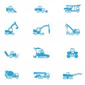 Icons for different types of special vehicles, part 4 — Stock Vector