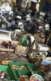 Barcelona flea market — Stock Photo