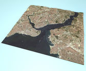 Istanbul, satellite view, map. — Stock Photo