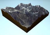 Satellite view of Annapurna, Himalaya Mountains. — Stock Photo
