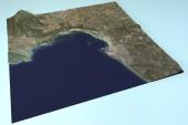Alghero uydu görüntüsü — Stok fotoğraf