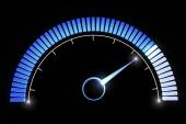 Blue manometer dial — Stock Photo