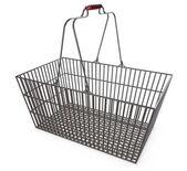 Metal shopping basket — Stock Photo