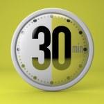 Постер, плакат: 30 Seconds stopwatch clock