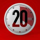 Twenty Seconds stopwatch clock — Stock Photo