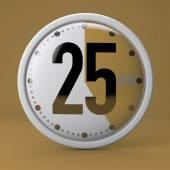 25 Seconds stopwatch clock — Stock Photo