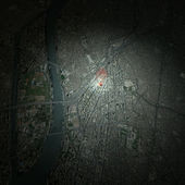 Map of Downtown of Cairo — Stock Photo