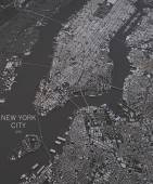 New York streets and buildings map — Stock Photo