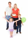 Family: Family Ready To Celebrate Birthday — Foto de Stock