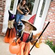 Halloween: Girl Ready For More Trick Or Treat After Getting Cand — Stock Photo #52110705