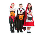 Halloween: Kids Ready for Halloween Candy — Stock Photo