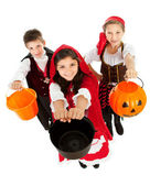 Halloween: Kids Ready for Candy — Stock Photo