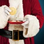 Santa: Having Sugar Cookie Snack — Stock Photo #52918511