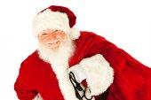Santa: Santa Claus Carrying Sack of Presents — Photo