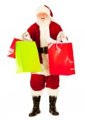Santa: Santa Excited To Do Christmas Shopping — Stockfoto