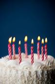 Cake: Birthday Cake With Candles For Any Birthday — Foto de Stock
