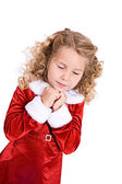 Christmas: Young Girl Hoping For Christmas Gift — Stockfoto