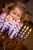 Hanukkah: Eight Lights Of Hanukkah Shining — Foto de Stock
