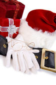 Christmas: Santa Items and Christmas Presents — Foto de Stock