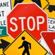 Signs: Montage Of Various Traffic Signs — Stock Photo #56365515