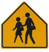 Signs: School Crossing Ahead — Foto Stock