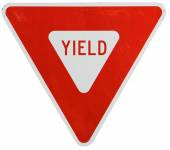 Signs: Yield To Traffic — Foto Stock