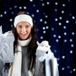 Winter: Excited Holiday Shopper with Shopping Bags — Stockfoto #57590921