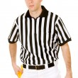 Referee: Serious Ref with Penalty Flag — Stock Photo #57596243