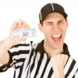 Referee: Holding Tickets to Big Game — Stock Photo #57596315