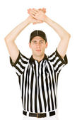Referee: Signalling a Time Out — Stockfoto
