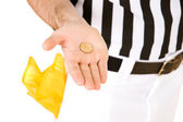 Referee: Results of Coin Toss — Stock Photo