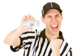 Referee: Holding Tickets to Big Game — Stockfoto