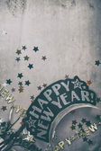NYE: Faded Background With Copyspace For New Year's Eve Party — Stockfoto