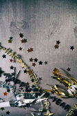NYE: Grunge Background For New Year's Eve With Confetti and Neck — Stockfoto