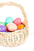 Easter: Basket with Plastic Eggs Full Of Treats — Stock fotografie