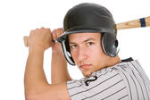 Baseball: Player Ready To Bat For Team — Stock Photo