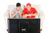 Baseball: Friends Playing Video Games — Stockfoto