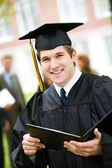 Graduation: Male Student Happy to Have Diploma — Stock fotografie