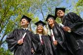 Graduation: Group of Students Look to the Future — Foto de Stock