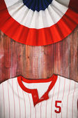 Baseball Background With Bunting And Team Shirt — Stock Photo